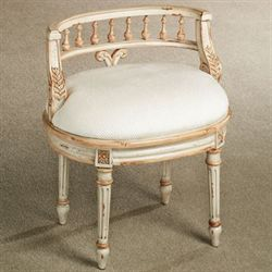 Queensley Vanity Chair Antique Ivory