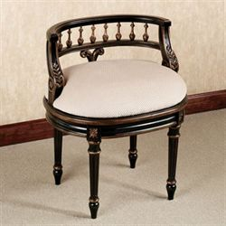 Queensley Vanity Chair Black Walnut