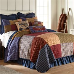 Lakehouse Patchwork Quilt Multi Warm