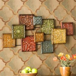 Bursting Floral Wall Sculpture Multi Jewel