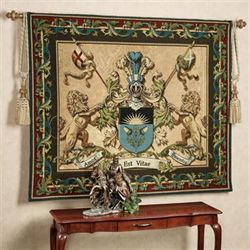 Love Strength Courage Wall Tapestry Multi Jewel