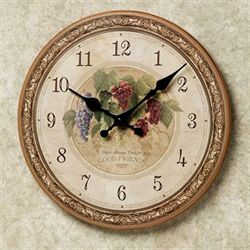 Winery Wall Clock Cream