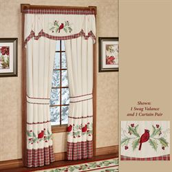 Wintersong Swag Valance Ecru 56 x 22
