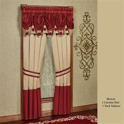 Prestige Tuck Valance Dark Red 90 x 18