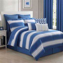Cabana Stripe Comforter Set Blue