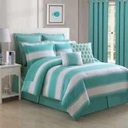 Cabana Stripe Comforter Set Jade