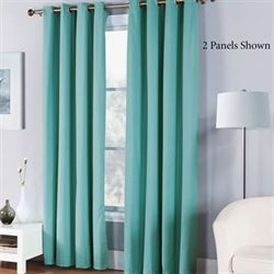 Cabana Grommet Curtain Panel Jade 50 x 84