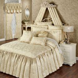 Francesca Grande Bedspread Light Gold