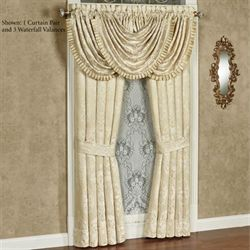 Francesca Waterfall Valance Light Gold 42 x 33