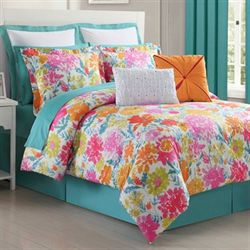 Garden Comforter Set Multi Bright