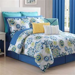 Lavida Comforter Set Blue