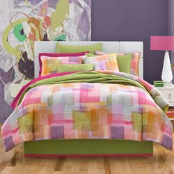 Block Party Comforter Set Multi Bright