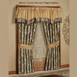 Miraloma Wide Tailored Curtain Pair Aqua 112 x 84