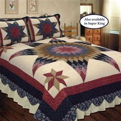 Prairie Star Patchwork Quilt Multi Warm