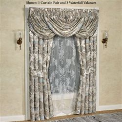 Jordyn Olivia Wide Curtain Pair Light Almond 100 x 84