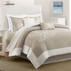 Coastline Comforter Bedding Set Khaki