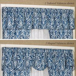 Allegra Wide Tailored Curtain Pair Midnight 100 x 84