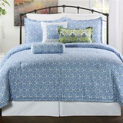Aurora Comforter Set Medium Blue
