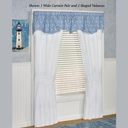 Aurora Wide Tailored Curtain Pair White 100 x 84