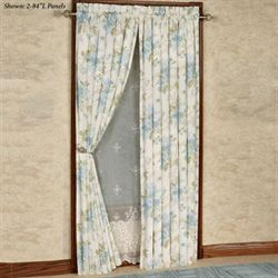 Jesamine Tailored Curtain Panel Ivory 50 x 84