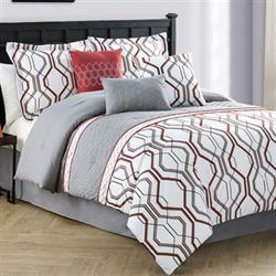 Corbet Comforter Bed Set Gray