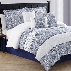 Lucille Comforter Bed Set Navy
