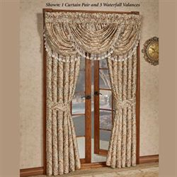 Serenity Wide Tailored Curtain Pair Light Gold 100 x 84