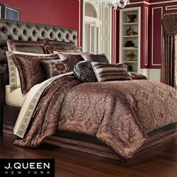 Bridgeport Red Comforter Set Burgundy