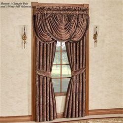 Bridgeport Red Wide Tailored Curtain Pair Burgundy 100 x 84
