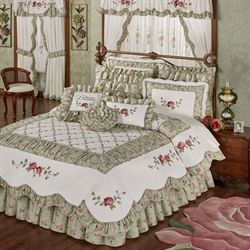 Cordial Garden Quilt Set Celadon