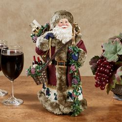Santas Wine Cellar Clothtique Santa Figurine Multi Warm