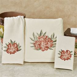 Tropical Haven Bath Towel Set Light Cream Bath Hand Fingertip