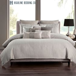Hylton Mini Comforter Set Platinum Gray