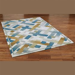 Urban Intersection Rectangle Rug Light Cream