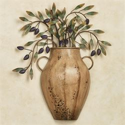 Valetta Vaso con Olives Wall Sculpture Harvest Gold
