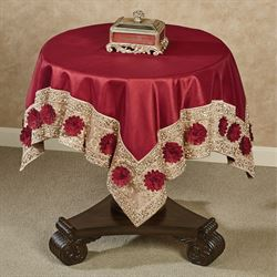 Prestige Table Topper Dark Red 42 Square