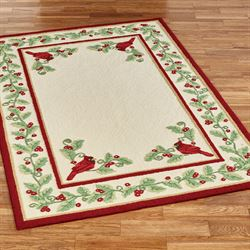 Wintersong Rectangle Rug Light Cream