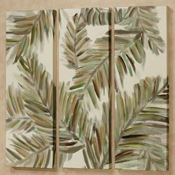 Leaves of Paradise Triptych Canvas Wall Art Multi Warm Three Piece Set