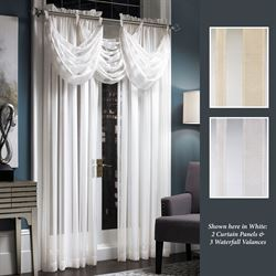 Bainbridge Sheer Waterfall Valance 27  x 18