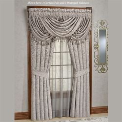 Sicily Wide Tailored Curtain Pair Silver Gray 100 x 84