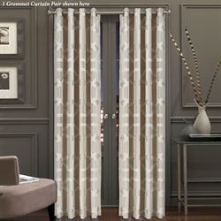Kingsgate Wide Grommet Curtain Pair Dark Beige 100 x 84