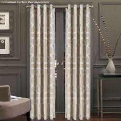 Kingsgate Wide Grommet Curtain Pair Dark Beige 100 x 84