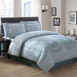 Sophia Comforter Bed Set Blue Shadow