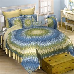Arcadia Star Patchwork Quilt Dark Blue