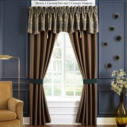 Cadeau Tailored Curtain Pair Multi Warm 82 x 84