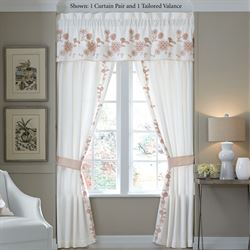 Fiona Tailored Curtain Pair White 82 x 84