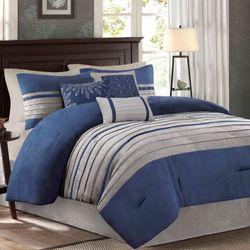 Porter Comforter Bed Set Blue