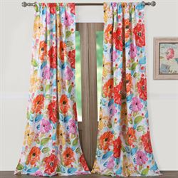 Esme Tailored Curtain Pair Multi Bright 84 x 84