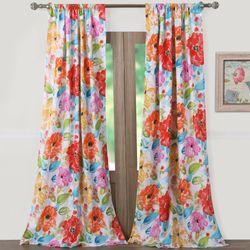 Esme Tailored Curtain Pair Multi Bright 84 x 84