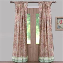 Palisades Tailored Curtain Pair Tea Rose 84 x 84